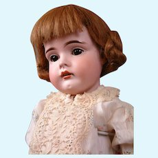 """Fabulous """"Gretel"""" 9.5"""" Antique German Wig 100% Human Hair in Cute Playful Style(not in accessories box)"""