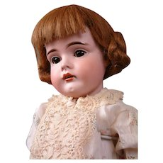 "Fabulous ""Gretel"" 9.5"" Antique German Wig 100% Human Hair in Cute Playful Style"