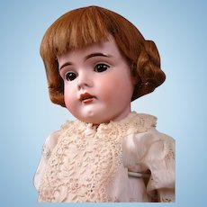 "Fabulous ""Gretel"" 9.5"" Antique German Wig 100% Human Hair in Cute Playful Style"