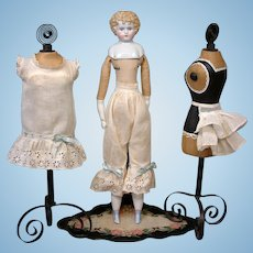 Fabulous All Original Insertion Ribbon And Bustle Undergarment Set for China or Fashion Doll Lady
