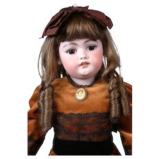 """SIMON & HALBIG 1079 26.5"""" Antique Bisque Doll w/Orig Finish Early Unmarked Body"""