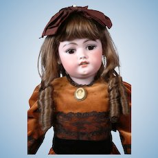 "SIMON & HALBIG 1079 26.5"" Antique Bisque Doll w/Orig Finish Early Unmarked Body"