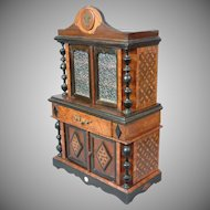 """Superb 22"""" Gilded Age Marquetry Buffet Made in Paris C. 1885"""