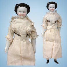 """Petite China Twin Ladies 7.5"""" Tall in Cute Antique Costume!"""