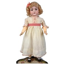 """Lovely 22"""" Kestner 167 Antique Bisque Doll with Cute Classic Presentation"""