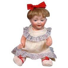 """Darling 13.5"""" Kestner """"Sammy"""" Baby Antique Character Bisque Doll"""