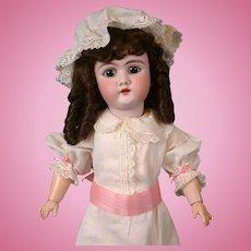 """Handwerck Halbig 109 22"""" Antique Bisque Girl Doll w/Glazed Neck"""