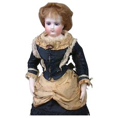 "15.5"" All Original Early Jumeau Poupee With Wooden Arms & Bisque Hands"