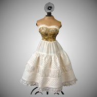 Exquisite Antique Half Slip or Ensemble Skirt c.1880 for Antique Lady Dolls