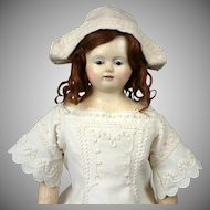 "Fabulous 27"" SMILING Papier Mache Child Doll with Glass Eyes~All Antique~ By Andreas Voit C. 1840-1845"