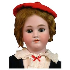 "29"" Heinrich Handwerck Dapper Boy with Original Wig in Velvet Costume"