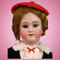 """29"""" Heinrich Handwerck Dapper Boy with Original Wig in Velvet Costume"""