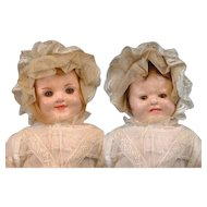 Peculiar Two-Face Wax Antique Child Doll with Original Wax Limbs