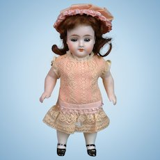 """7.25"""" Kestner 329 All-Bisque Antique Doll with Chunky Body & Molded Socks"""