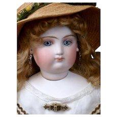 "Breathtaking 19"" Portrait Fashion Poupee Attr. to Lazare Frayon C. 1865~ All Original In Mint Condition!"