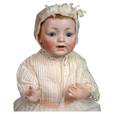 """RARE 17.5"""" Kestner 211 """"Sammy"""" Antique Character Baby with Desirable Mohair Skin Wig"""