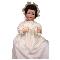 "LIFE-SIZED 26"" Antique Bisque Character Baby Kammer & Reinhardt 126 with Blue Eyes"