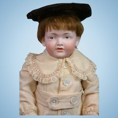 """The Darling Kley & Hahn 536 Antique Character Boy 15.5"""" on Toddler Body"""