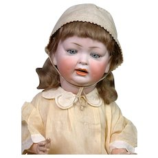 "Chunky Hertel & Schwabb 152 Antique Character Baby 21"" -- Antique Dress!"
