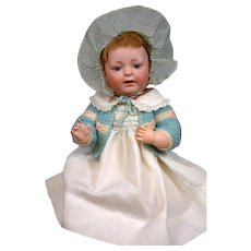 """Kestner 211 """"Sammy"""" Character Antique Baby Doll 15"""" with Open-Closed Mouth"""