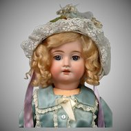 "Fleischmann & Bloedel 19"" Antique Walker & Kiss-Blowing French Bebe"