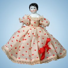 """*So Sweet* 4.75"""" Antique Dollhouse China Girl in Original Costume"""