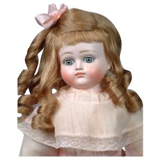 "20""  Turned-Head Closed-Mouth Pouty Kestner Lady in Powder Pink Antique Dress"