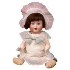 """Scheutzmeister & Quendt 15"""" Antique Baby Character Doll 201 w/ Blue Eyes"""