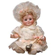 "Super Rare 9.5"" Bahr & Proschild 686 All Original Googly with Baby Rattle"