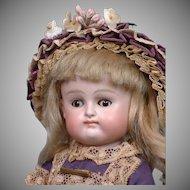"Adorable 8.5"" Kestner Wrestler With Rare Blue Boots All Bisque Doll Circa 1895--So Cute"