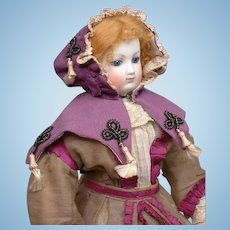 Outstanding Original Huret or Rohmer Capelet~ Lavender Wool With Soutache and Tassels!~
