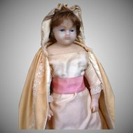 """PERFECT All Original 20.5"""" Stamped Wax Child Doll Circa 1855 Attributed to Mme. Montanari of London"""
