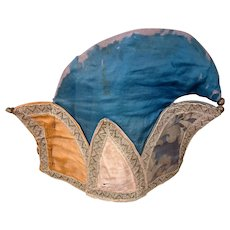 Museum-Quality Early c. 1845 Antique Jester Silk Hat with Bells