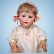 "Antique Simon & Halbig ""Jutta"" Character Baby 21"" 1914 with RARE Jointed Wrists"