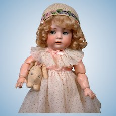 Early c.1890-95 Antique Child or Bebe Doll Bonnet with Hand-Done Beadwork