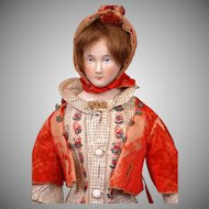 "Exemplary 16"" China Lady by Lippert & Haas of Schlaggenwald with Outstanding Trousseau C. 1865"