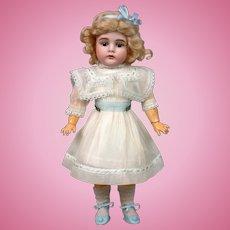 """Kestner 164 Antique Girl 16"""" on Marked Fully-Jointed Body"""