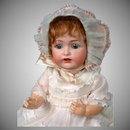 "Kestner 257 Antique Character Baby 14.5"" with Original Antique Wig"