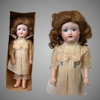 """All-Original In-Box Morimura Brothers Antique Child Doll from Japan 12.5"""""""