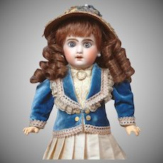 "14"" Jumeau 1907 Size 4 Bebe with Original Blue Paperweight Eyes--Adorable"