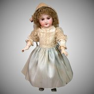 All-Original French UNIS 301 Antique Bisque Girl in Original Antique Costume & Wig