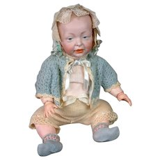 """Kaiser Antique Character Baby 14.5"""" K&R 100 on Rare Early Jointed Arm Body"""