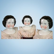 """Lovely Antique China Lady 18.5"""" in Cute Polka Dot Costume"""