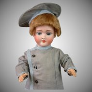"*Ships Ahoy* Antique Boy 20"" in Vintage Sailor Costume on Toddler Body"