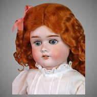 "Max Handwerck Ginger Girl Antique Bisque Doll 25"" in Crispy Whites"