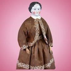 "Museum-Worthy All-Original China Lady 30"" Pre-Greiner c.1850 in All-Original Costume"