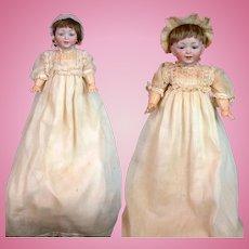 "Outstanding Pair of ""Sammy"" Kestner Toddlers, 100% Original *FAO Schwarz Labels*"