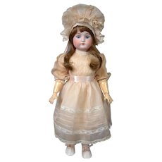 "Cuno Otto Dressel 1912 Antique Bisque Girl 23"" in Cute Bonnet"