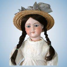 """26.5"""" French Antique """"Tanagra PARIS"""" Bisque Bebe in Antique Dress"""