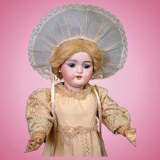 """Timeless Simon & Halbig 1079 Antique Bisque Doll 19"""" Original Dress and Wig"""